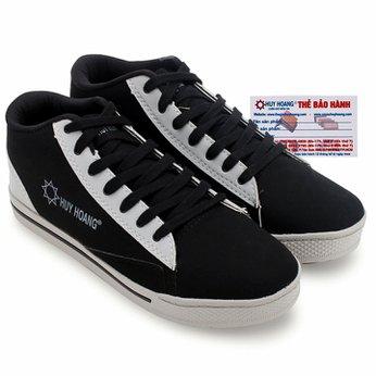 Giày thể thao nam Huy Hoàng cột dây màu đen HG7610