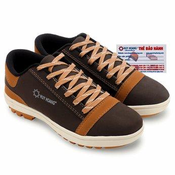 Giày thể thao nam Huy Hoàng cột dây màu nâu đất HG7609