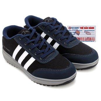 Giày thể thao nam Huy Hoàng cột dây màu xanh đen HG7607