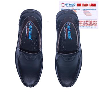 Giày mọi nam Huy Hoàng da bò màu đen HG7794
