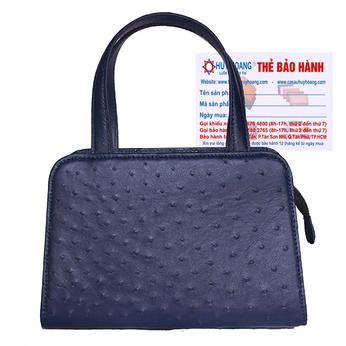 Túi xách nữ Huy Hoàng da đà điểu cỡ nhỏ màu xanh đậm HG6468