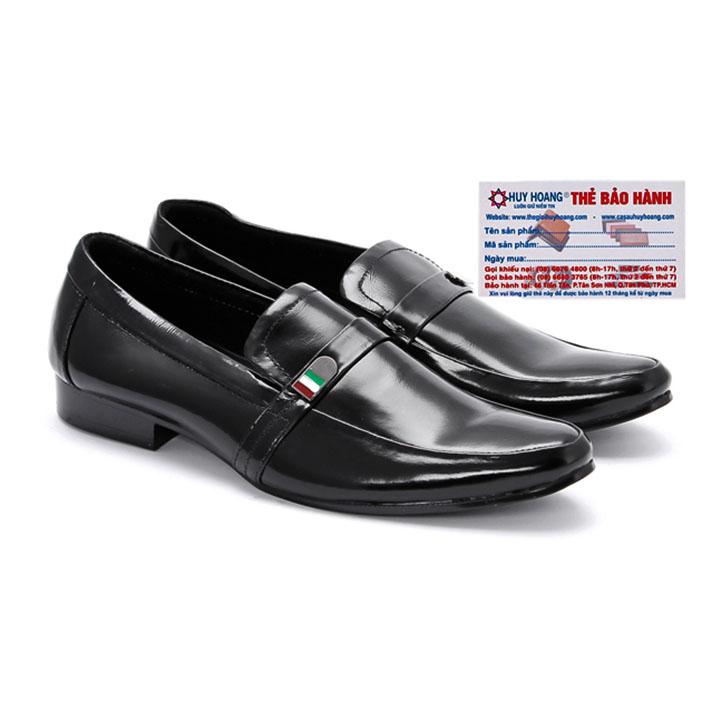 Giày tây nam Huy Hoàng da bò màu đen HG7104