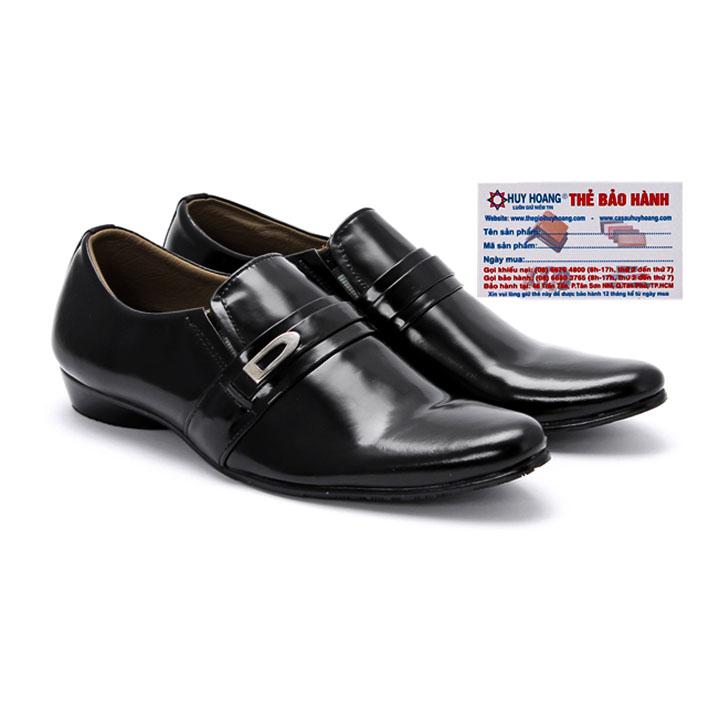 Giày tây nam Huy Hoàng da bò màu đen HG7105