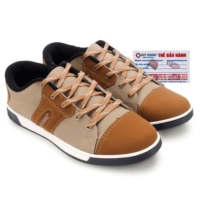 Giày thể thao nam Huy Hoàng cột dây màu bò HG7605