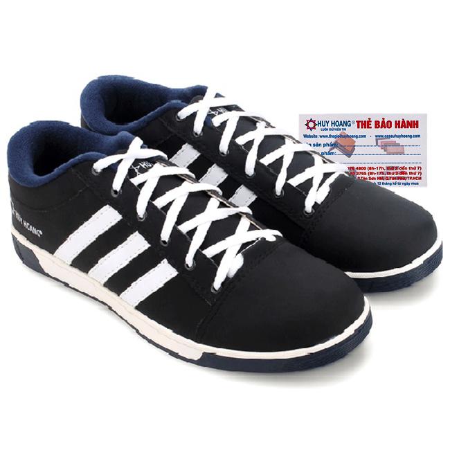 Giày thể thao nam Huy Hoàng cột dây màu đen HG7604