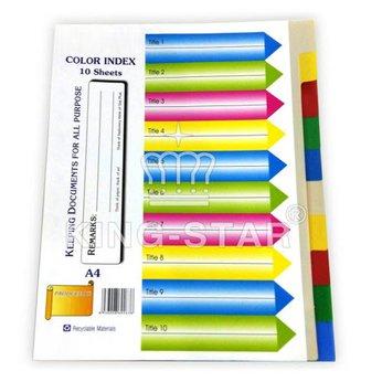 Phân trang giấy 10 màu  (10 A4 Color Index paper Dividers)