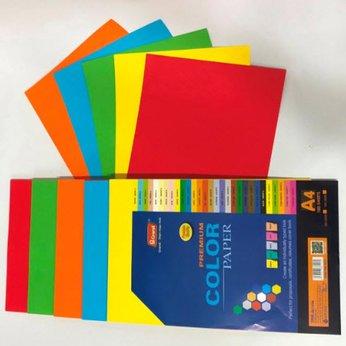 Bìa màu ĐB A4 Pgrand 160gsm (trộn 5 màu Đ