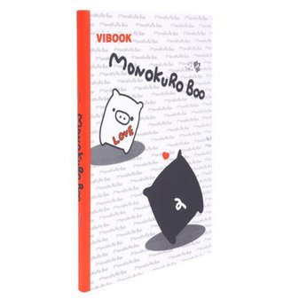 Tập sinh viên 200 trang Vibook Monokuro Boo (lốc 5 cuốn)