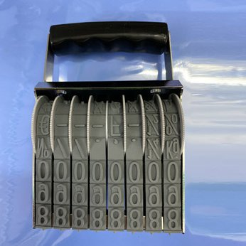 Dấu 8 số xoay 15mm chấm mực ngoài Shiny NA8