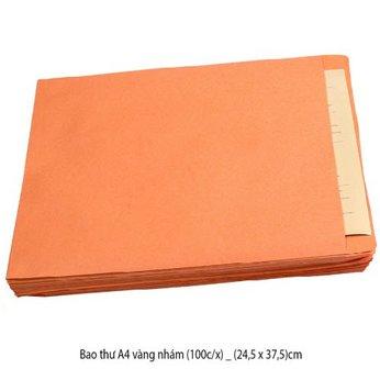 Bao thư A4 vàng nhám (100c/x) _ (24,5 x 37,5)cm