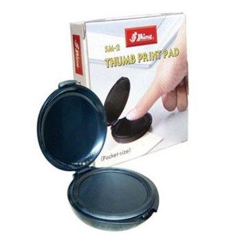 Khay tampon mực lăn tay Shiny SM-2 Thumb print pad- Hộp mực lăn chỉ tay SM2 màu xanh