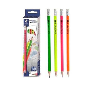 Bút chì 2B Neon nhiều màu có tẩy Đức Staedtler 13244 C12 (Gồm 4 màu Vàng