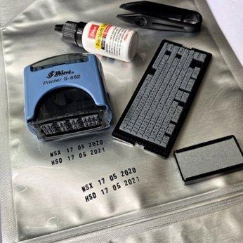 Dấu ngày tháng năm NSX-HSD ráp chữ và số Shiny S882 / Dấu ngày sản xuất và hạn sử dụng S882