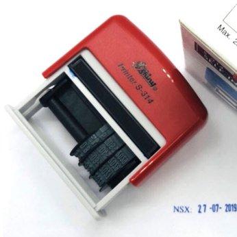 Dấu 1 dòng NSX hoặc HSD Shiny S314 kèm ngày tháng năm tự chỉnh