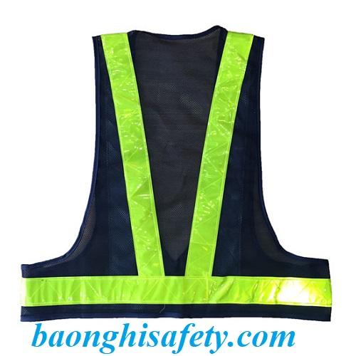 Áo phản quang chữ A có túi trước ngược