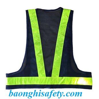 Áo phản quang chữ A có túi trước ngực