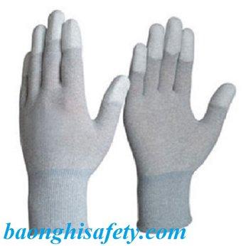 Găng tay tĩnh điện carbon phủ ngón PU