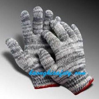 Găng tay bảo hộ lao động len xám (50g)