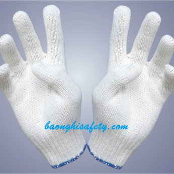Găng tay bảo hộ lao động len trắng (40g)