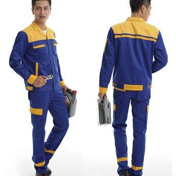 Quần áo bảo hộ KaKi phối màu xanh vàng (hàng đặt may)