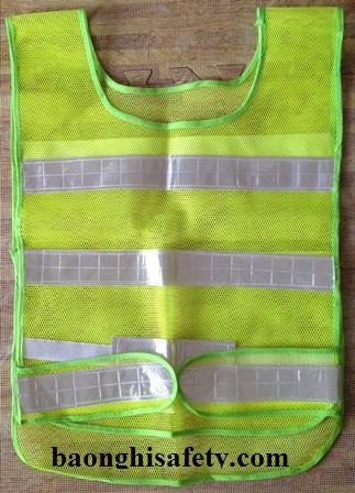 Áo phản quang chui đầu - Lưới nhựa