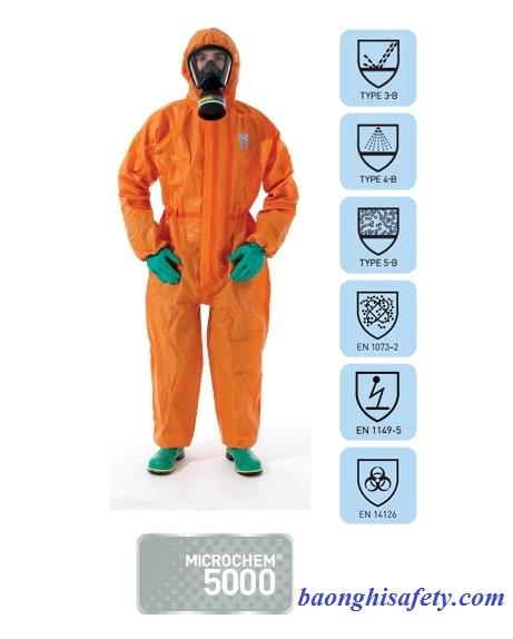 Quần áo chống hóa chất Microchem 5000