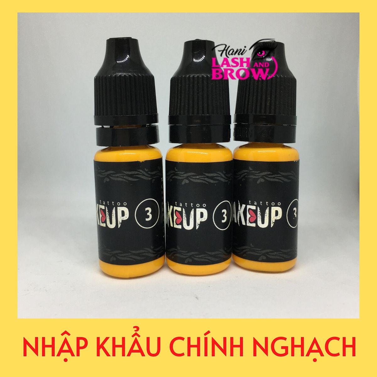 Mực phun makeup 3 Nhập Khẩu Nga - Mực Phun Xăm Organic Cao Cấp