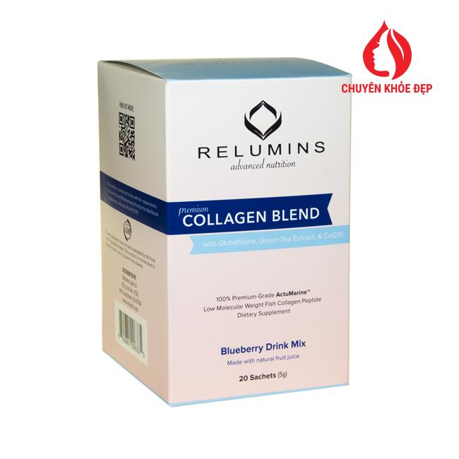 Relumins Premium Collagen Blend 5g thực phẩm dưỡng trắng da