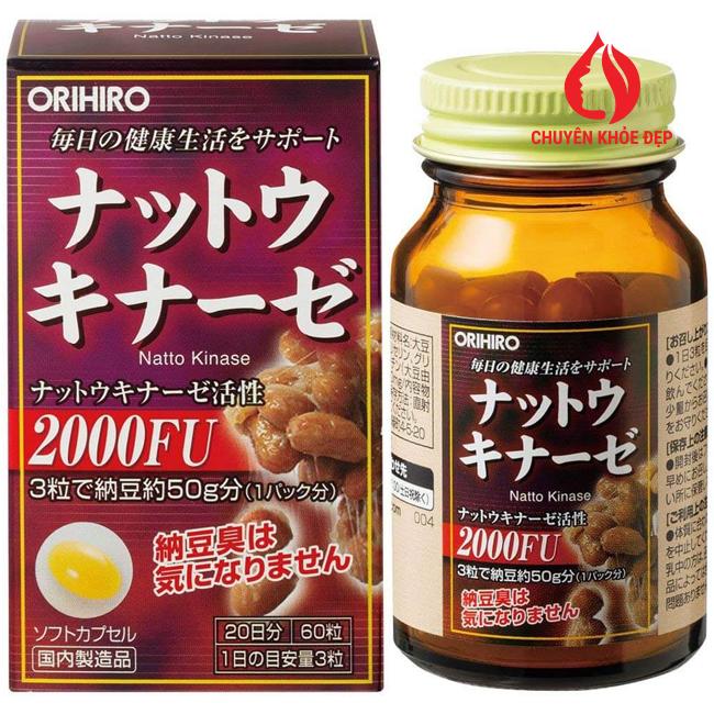 Viên uống giúp phục hồi hỗ trợ điều trị tai biến Nattokinase 2000FU Orihiro