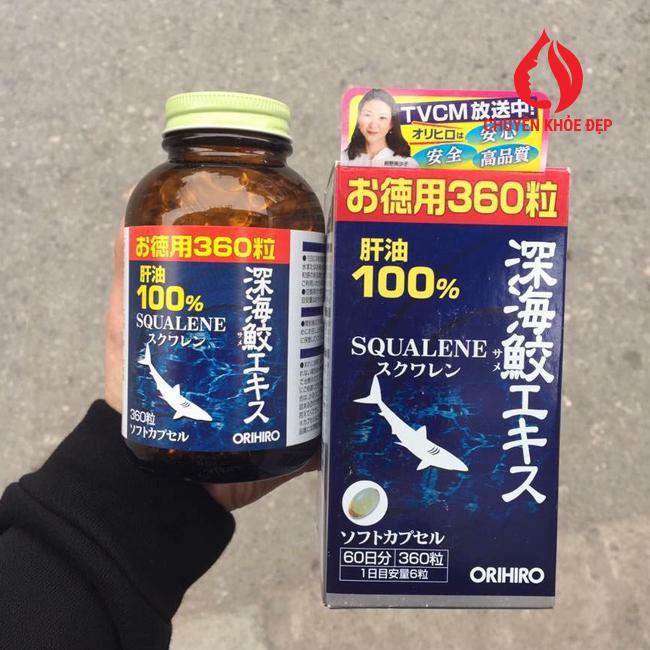 Viên uống sụn cá mập Squalene ORIHIRO 360 viên của Nhật