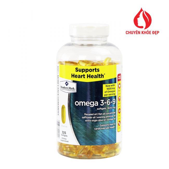 Viên uống dầu cá Omega 3-6-9 Supports Heart Health 325 viên của Mỹ