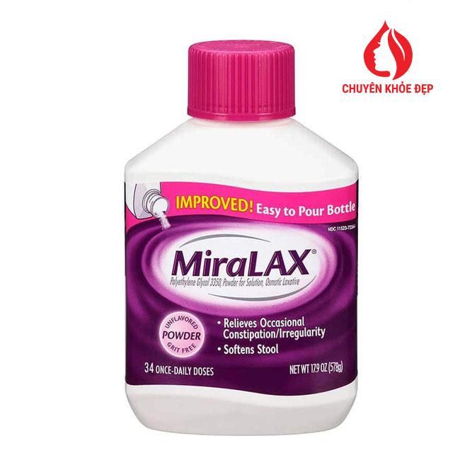 Bột MiraLAX Trị táo bón cho trẻ em và người lớn 34 cốc của Mỹ