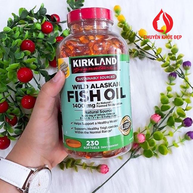 Viên uống Dầu Cá Alaskan Kirkland Signature Wild Alaskan Fish Oil 1400 mg 230 viên của Mỹ