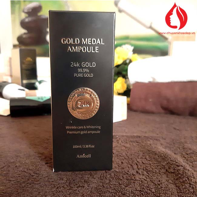 Tinh chất vàng 24k tái sinh làn da Gold Medal Ampoul 100ml Amicell