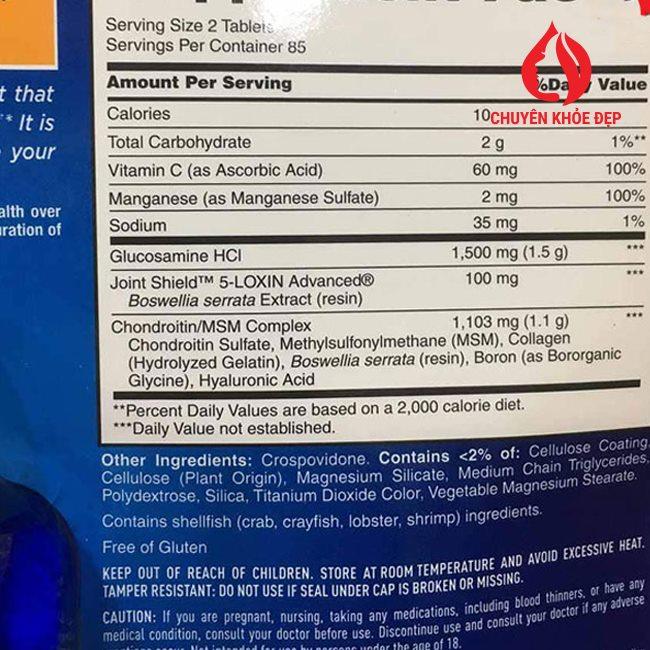 Viên uống bổ khớp Osteo Bi-Flex Triple Strength 170 viên của Mỹ