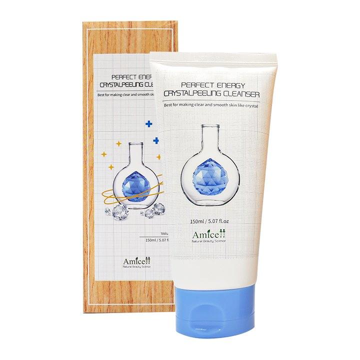 Sữa rửa mặt tẩy tế bào chết cho da hay trang điểm – Crystal peeling cleanser Amicell 150ml