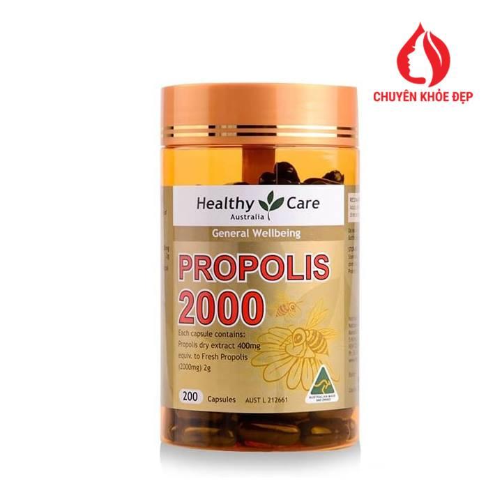 Keo ong Úc Healthy Care Propolis 2000mg 200 viên của Úc