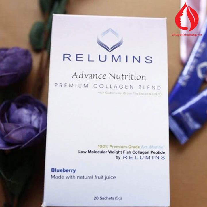 Relumins Premium Collagen Blend Vanilla thực phẩm dưỡng trắng da