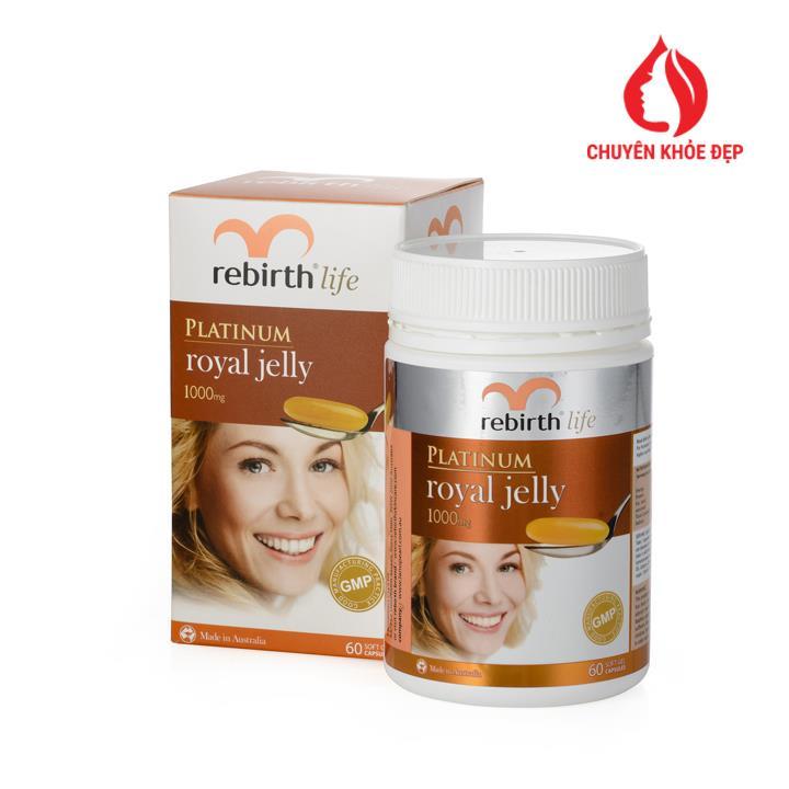 Sữa ong chúa Rebirth Platinum Royal Jelly 60 viên của Úc