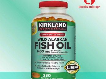 Dầu cá cao cấp đảm bảo an toàn tuyệt đối cho sức khỏe - Alaska Kirkland Signature Wild Alaskan Fish Oil 1400 mg 230 viên của Mỹ