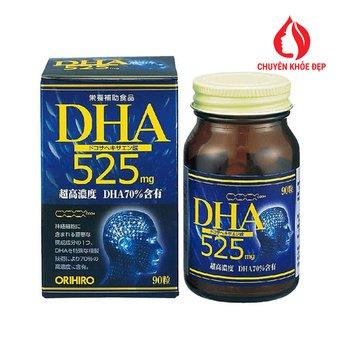 Viên uống giúp tăng cường trí nhớ ORIHIRO DHA 525 hộp 90 viên của Nhật Bản