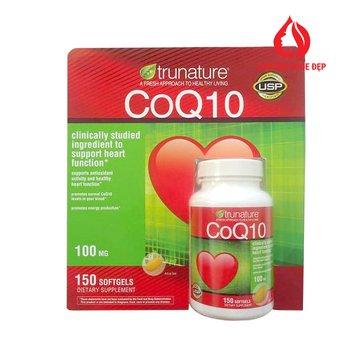 Viên uống bổ Tim Mạch Trunature CoQ10 100 mg 150 viên của Mỹ