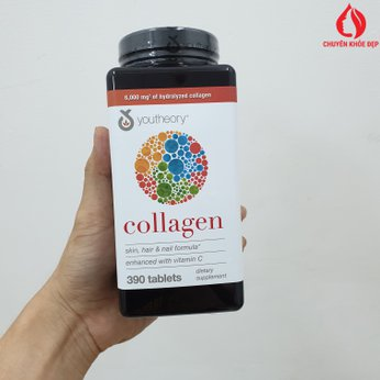 Viên Uống Làm Đẹp Da Chống Lão Hóa Da - Collagen Youtheory 390 Viên Của Mỹ
