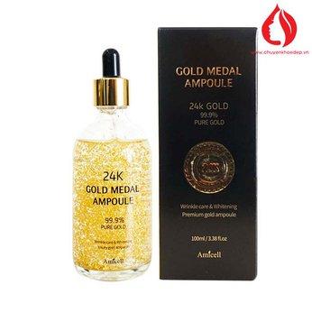 Tinh chất vàng 24k tái sinh làn da Gold Medal Ampoule 100ml Amicell