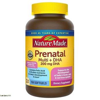 Viên uống bổ sung Vitamin cho bà bầu - Nature Made Prenatal Multi DHA