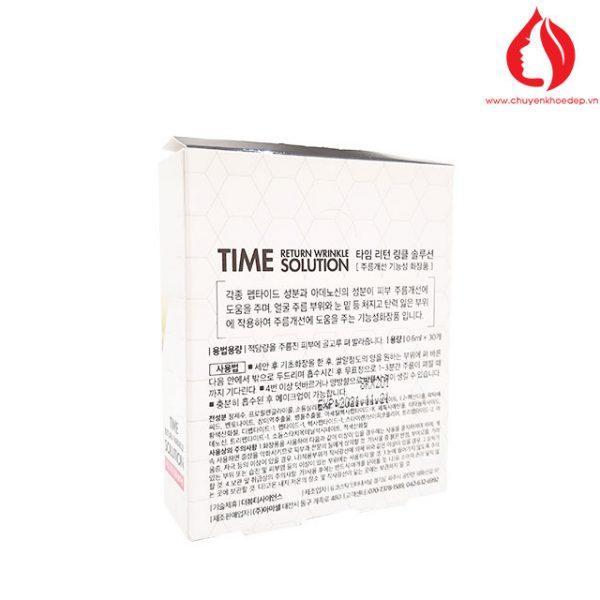 Dưỡng chất chống nhăn và thâm quầng mắt Time Return Wrinkle Solution Amicell