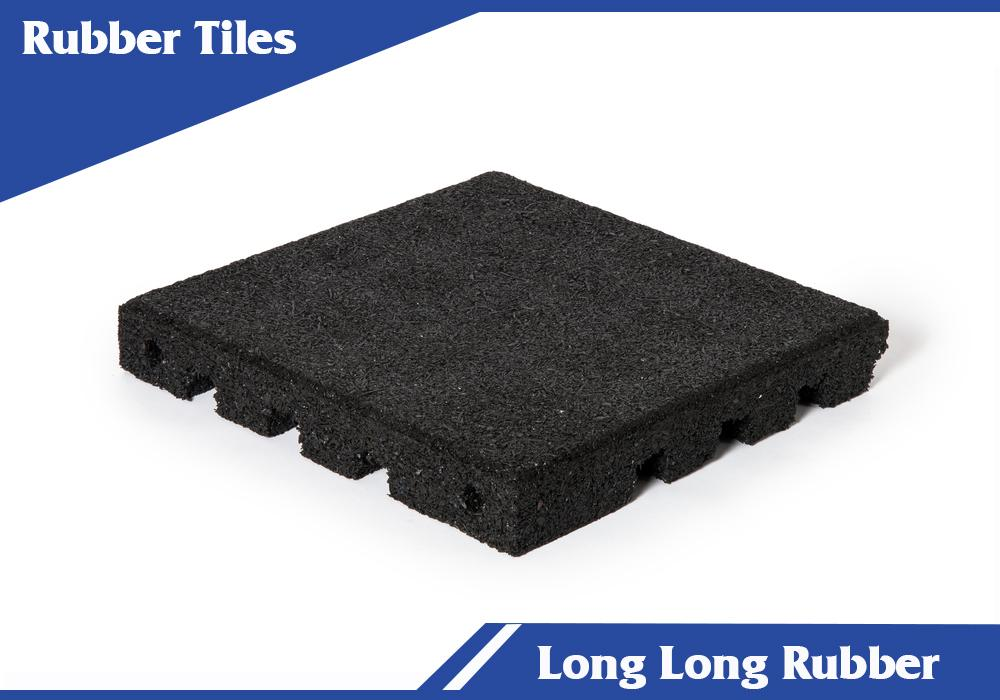 Playground safety recycled rubber tiles