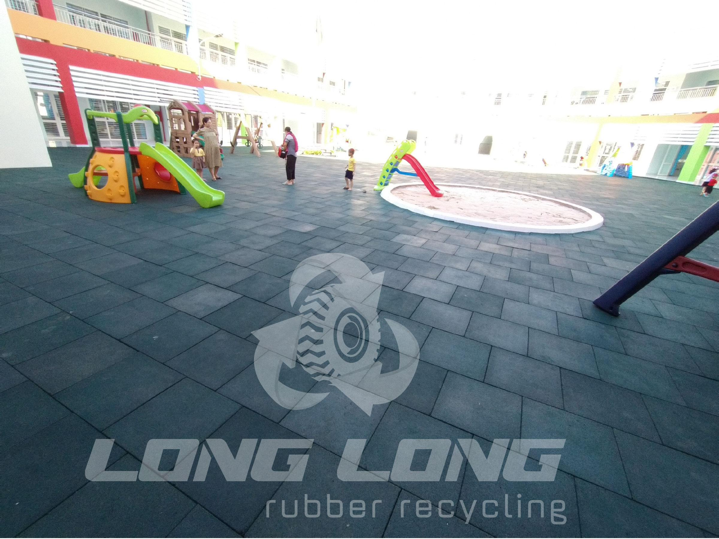 Safe children's playground rubber matting