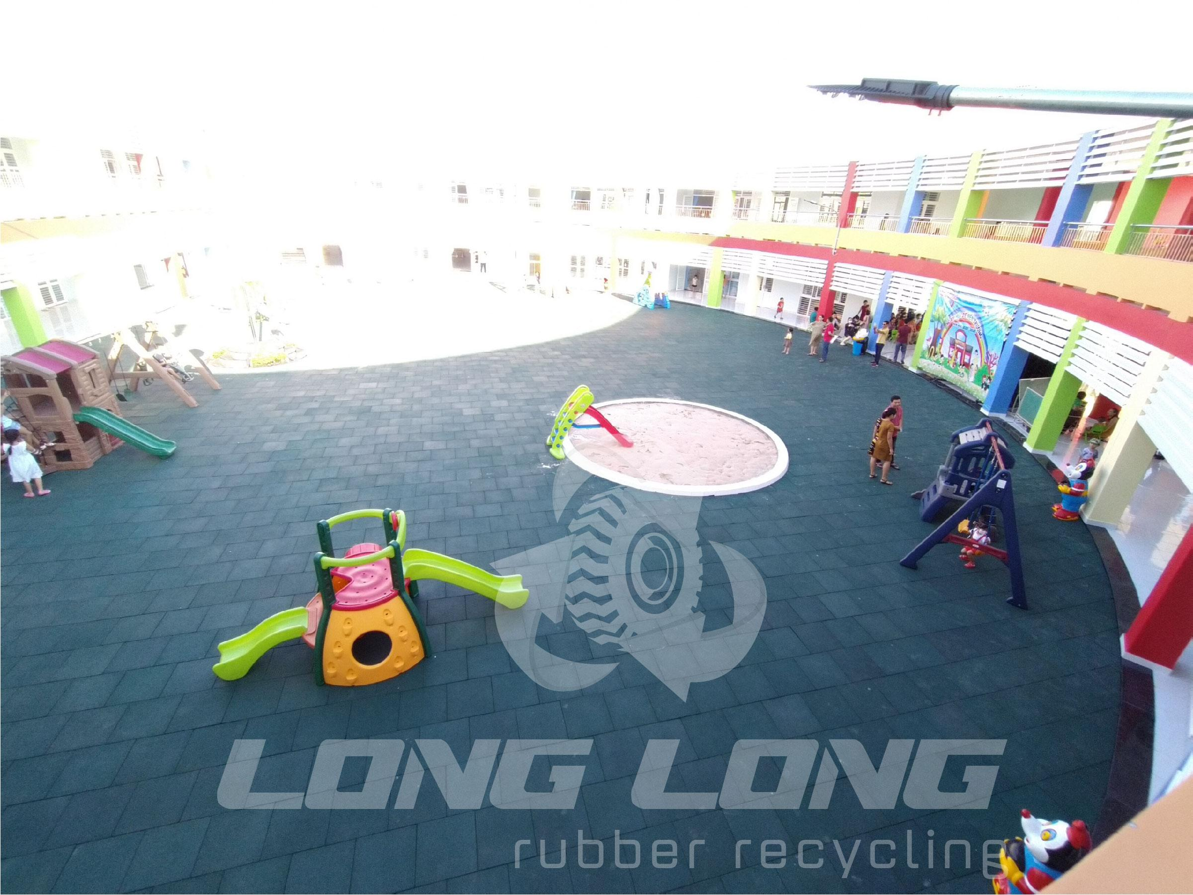 safe children playground rubber matting