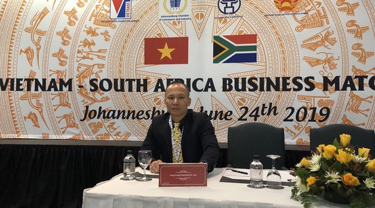 Long Long at Vietnam-South Africa Business Matching in 2019